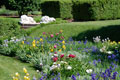 Annie duPont formal garden in spring