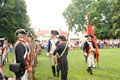 "George Washington inspecting the troops during Mount Vernon's annual ""An American Celebration"" event on July 4"